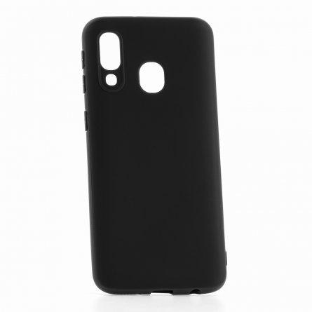 Чехол-накладка Samsung Galaxy A40 2019 DF Slim Silicone черный