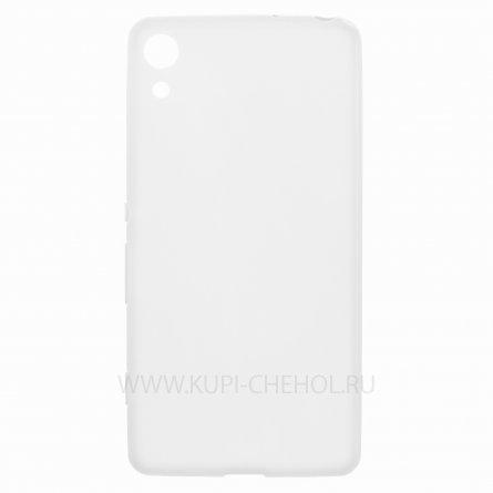 Чехол-накладка Sony Xperia Z4 / Z3+ тонкий классик прозрачный