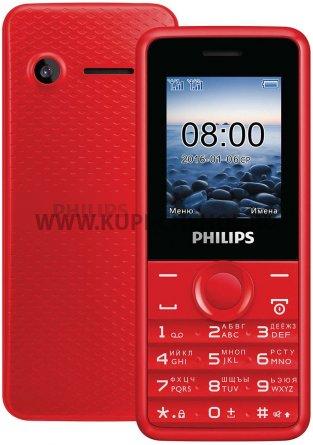 Телефон Philips E103 Red