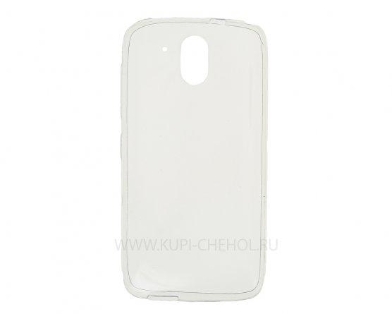 Чехол силиконовый HTC Desire 526G+ Dual прозрачный глянцевый 0.5mm