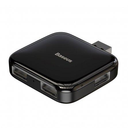 ХАБ USB-разветвитель 4 порта+USB Micro Baseus Fully Folded Black