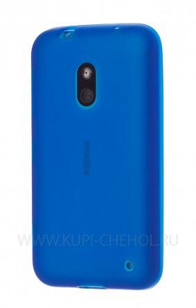 Чехол силиконовый NOKIA 620 Lumia синий матовый