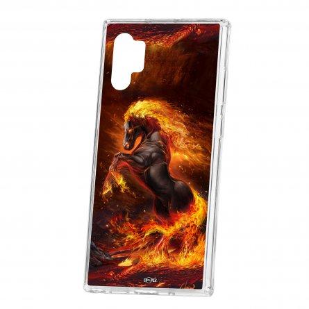 Чехол-накладка Samsung Galaxy Note 10+ Kruche Print Конь огонь