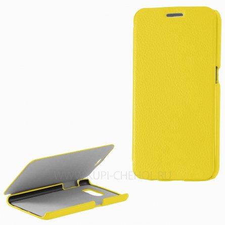 Чехол книжка Samsung G920f Galaxy S6 UpCase жёлтый