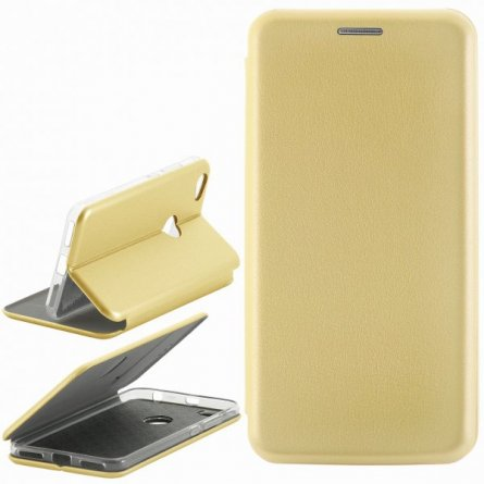 Чехол книжка Xiaomi Redmi Note 5A Prime Fashion Case с визитницей Gold