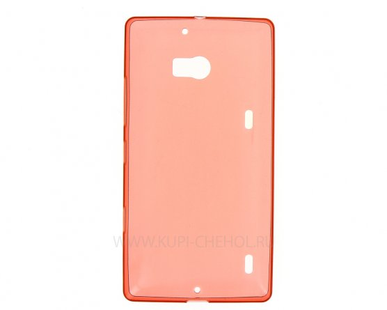 Чехол силиконовый NOKIA 930 Lumia красный глянцевый 0.5mm
