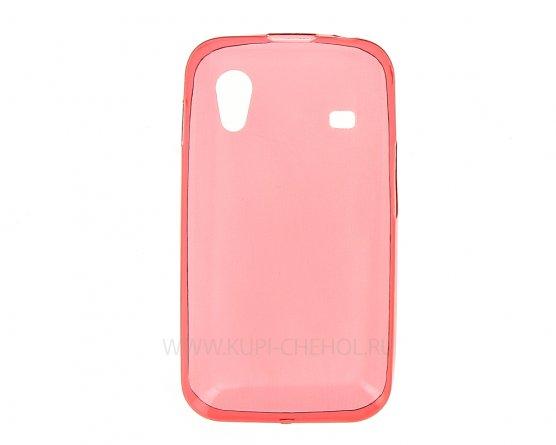 Чехол-накладка Samsung S5830 Galaxy Ace красный 0.5 глянцевый
