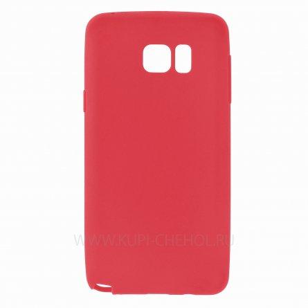 Чехол-накладка Samsung Galaxy Note 5 тонкий классик красный