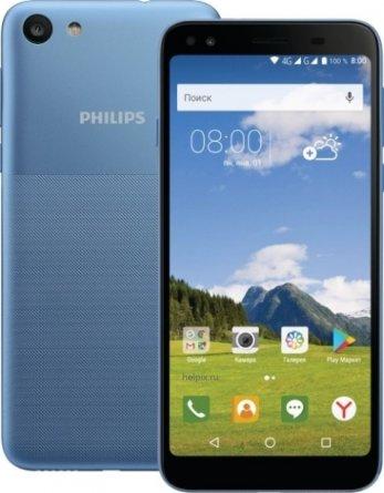 Телефон Philips S395 Light Blue