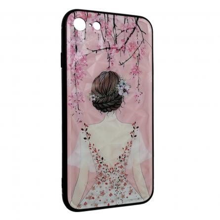 Чехол-накладка Apple iPhone 7 22042 Девушка и сакура