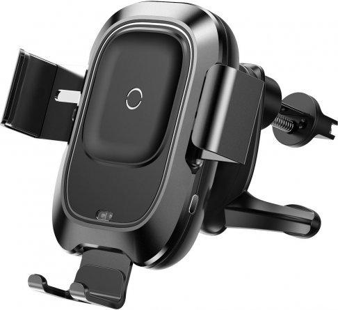 Автодержатель в воздуховод+беспроводное З/У Baseus Smart Vehicle Black