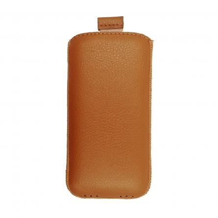 Чехол с внутренним языком Apple iPhone 5/5S Luxe оранжевый