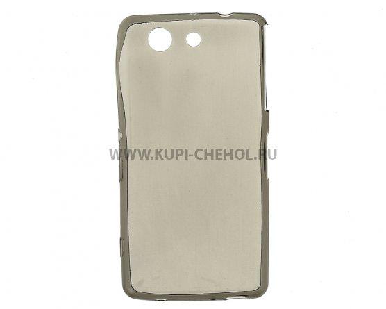 Чехол-накладка Sony Xperia Z4 Compact / Mini серый глянцевый 0.5mm