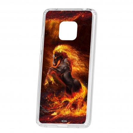 Чехол-накладка Huawei Mate 20 Pro Kruche Print Конь огонь