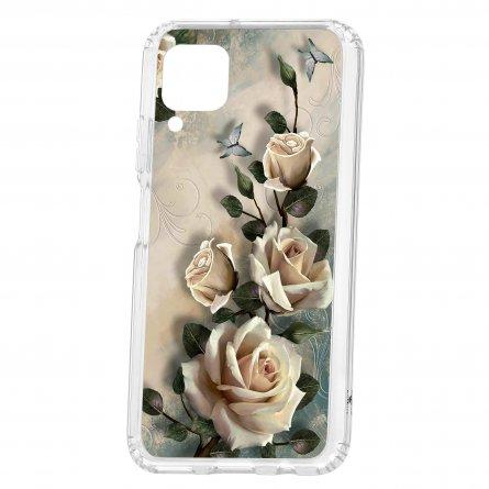 Чехол-накладка Huawei P40 Lite Kruche Print Белые розы