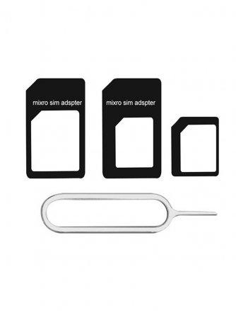 Набор адаптеров для Sim-карт 4в1 Exployd Classic Black